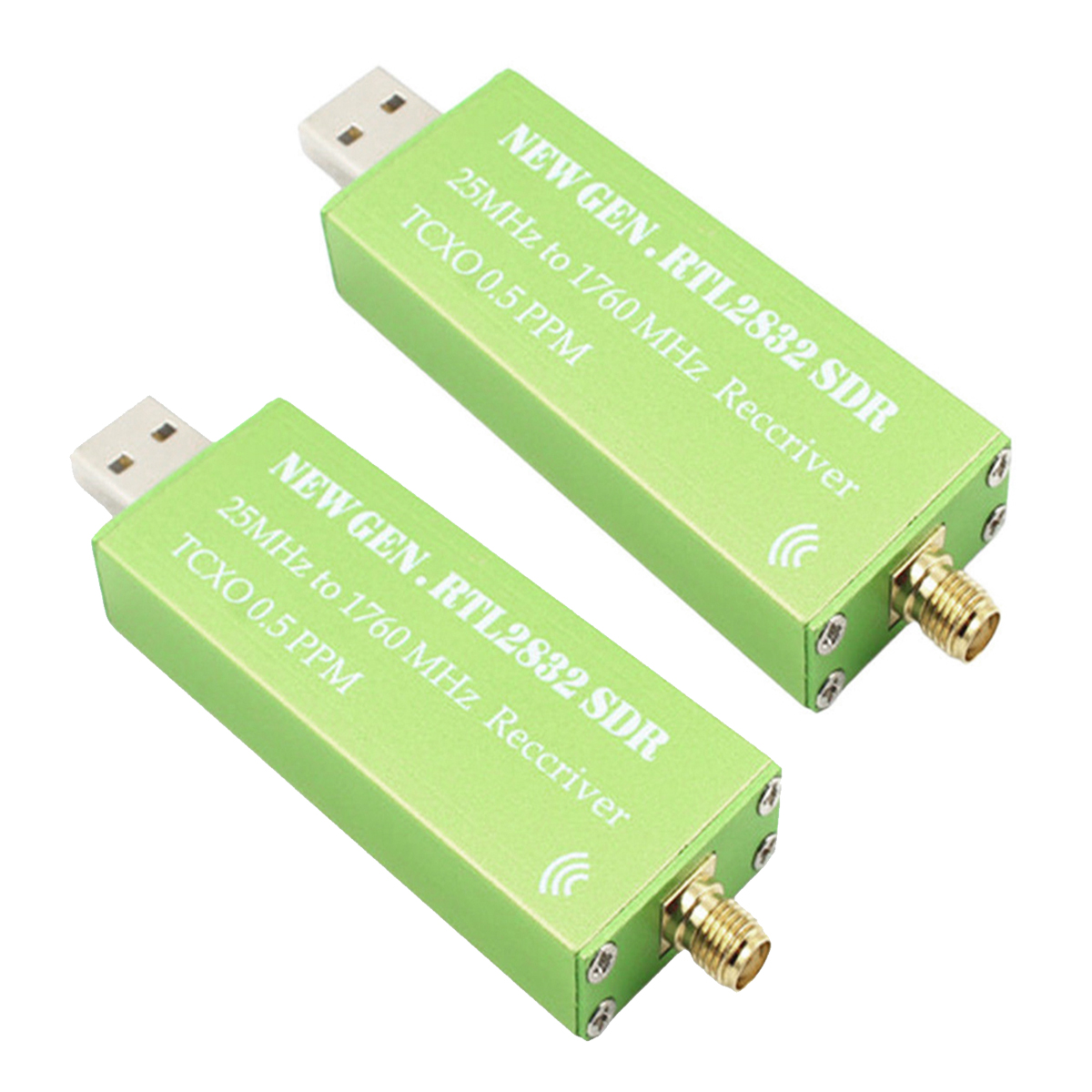 USB Adapter RTL-SDR RTL2832U + R820T2+ 1Ppm TCXO TV Tuner Stick Receiver 2 100khz 1 7ghz full band rtl sdr software receiver aerial band shortwave band rtl2832u r820t2 tuner tv receivers