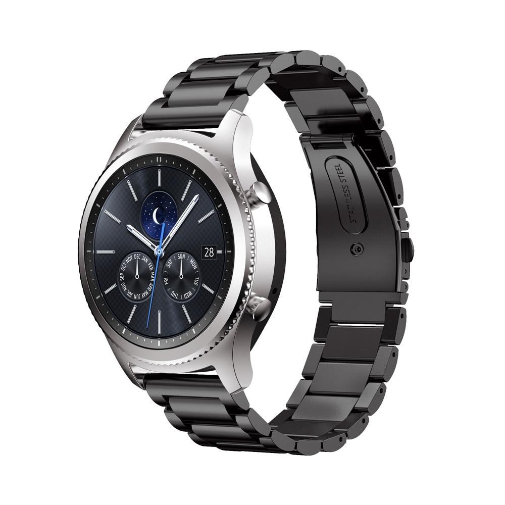 Prix pour Acier inoxydable Bande de Montre De Courroie Pour Samsung Gear S3 smart watch bande Lien bracelet Classique noir or pour Samsung S3 montre bande