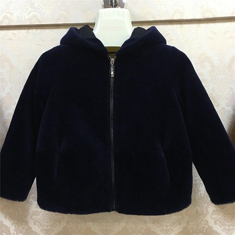 JKP 2018 Детская куртка с капюшоном из овечьей шерсти 100% импортная шерстяная куртка Экологически чистая теплая куртка ZPC 225