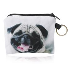 Pug coin purse Holder for cute girl