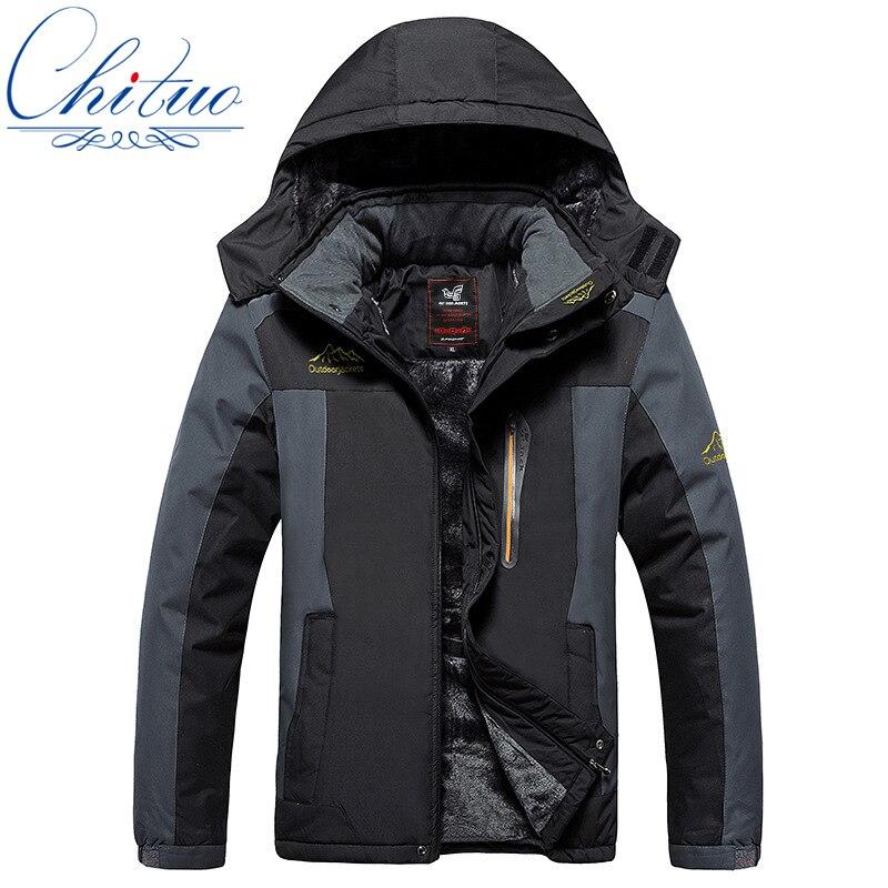 winter new big yards Plus thick velvet Men s coat jacket Windand waterproof men s casual