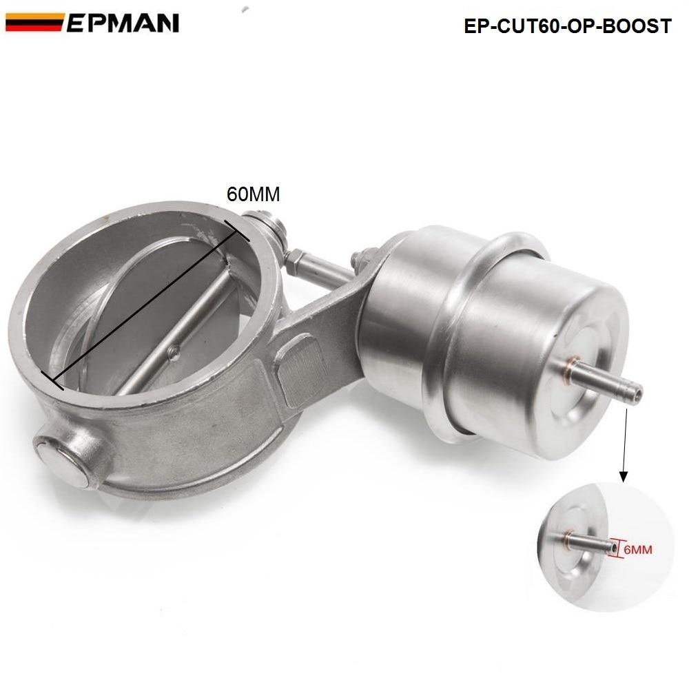 """Выпускной регулирующий клапан набор выреза 2,"""" 60 мм Труба открытая с повышающим приводом с беспроводным пультом дистанционного управления набор EP-CUT60-OP-BOOST-BZ"""