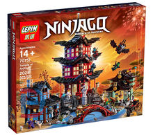 LEPIN 70751 Ninjag City of Stiix Building Blocks 2028pcs Temple of Airjitzu minifigures Kids Bricks Toys