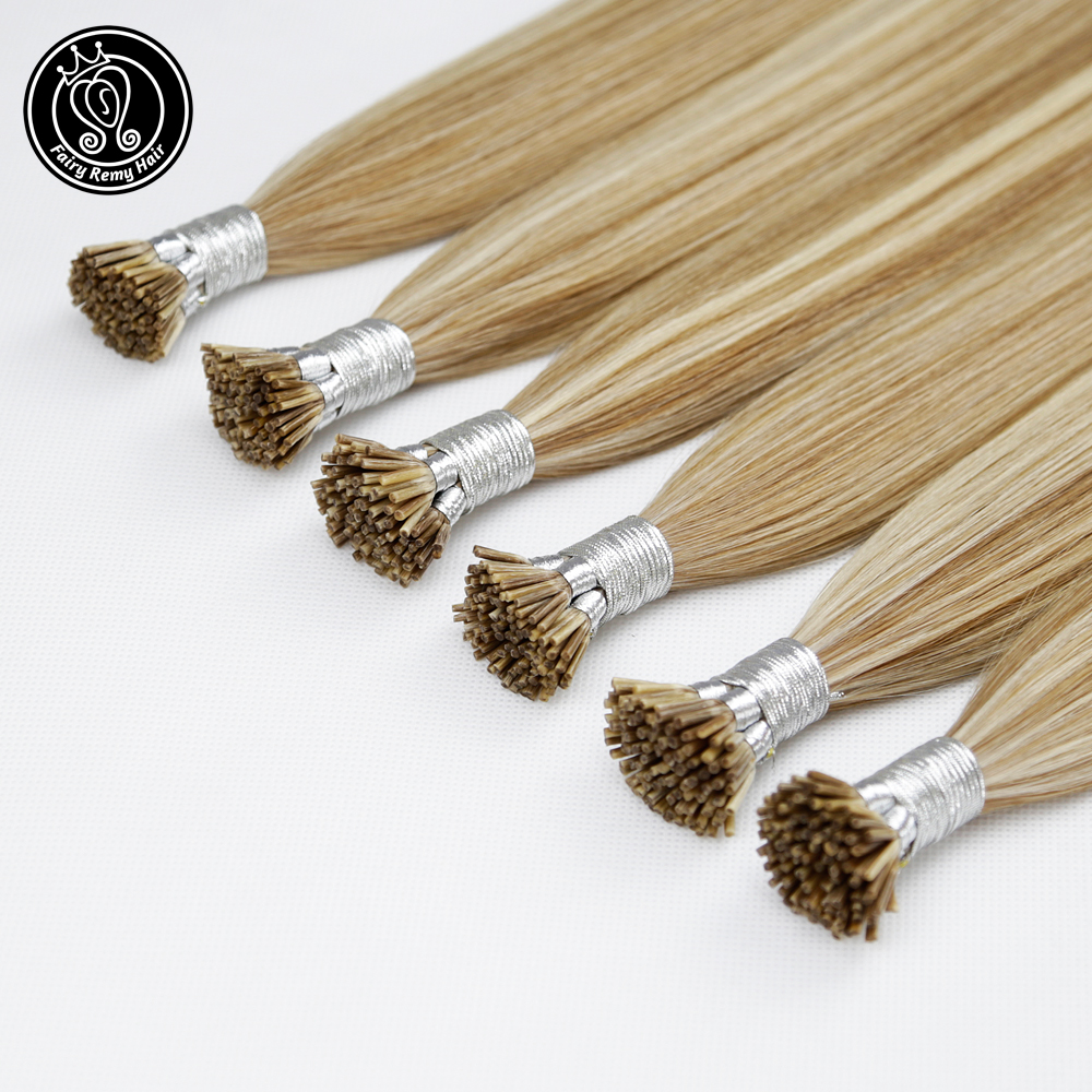 Stick I Tip Human Hair Extensions Hot Fusion Full Cuticle European Hair Piano Color P8/16/60 Fairy Remy Hair 0.8g/s 16