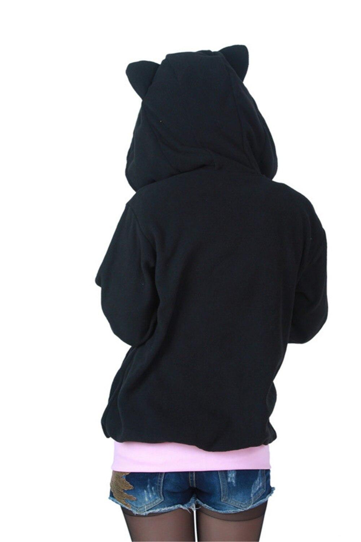 Aliexpress.com : Buy DOUBCHOW Women's Halloween Black Cat Hoodie ...