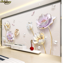 beibehang 3d TV background wallpaper three-dimensional conca
