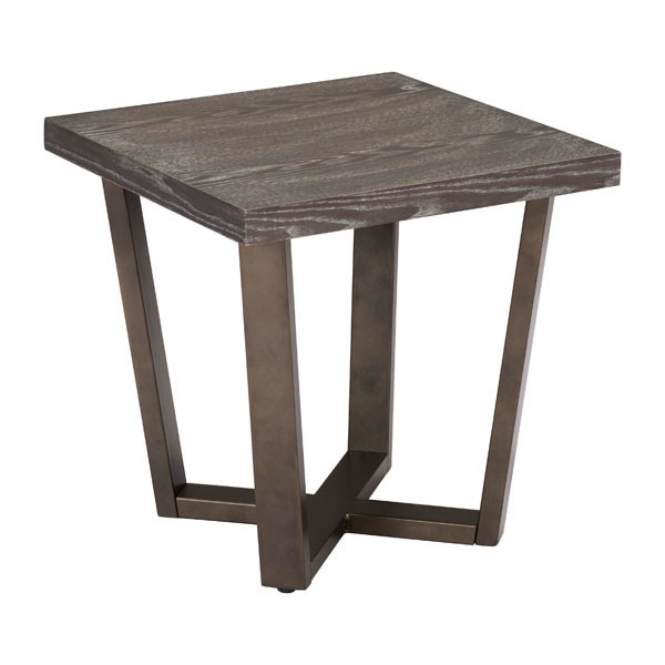 Brooklyn столик Серый Дуб & A. Латунь