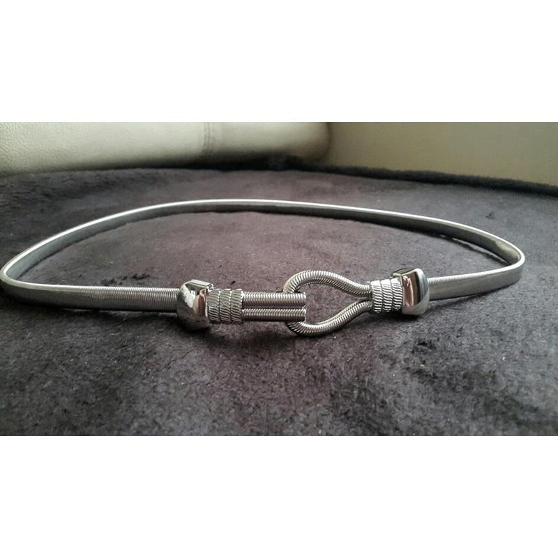 Fashion Silver Metal Stretchy Waist Chain   Belt   Lady Luxury Waistband Elegant cintos femininos 2 Color   belts   for women bg-038