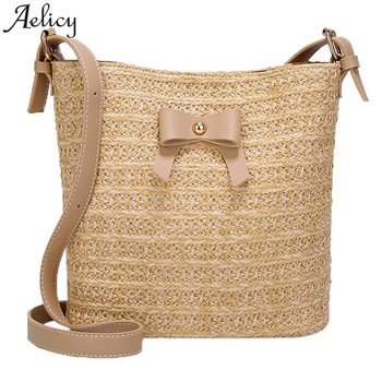b90cd17ddb40 Aelicy летняя стильная пляжная сумка женская Соломенная Сумка через плечо  брендовые дизайнерские сумки высокого качества женские