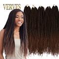 Ombre Crochet Braid hair 18inch 75grams/pcs,small Senegalese Twist Hair 30 roots Synthetic Braiding Hair braiding hair extension