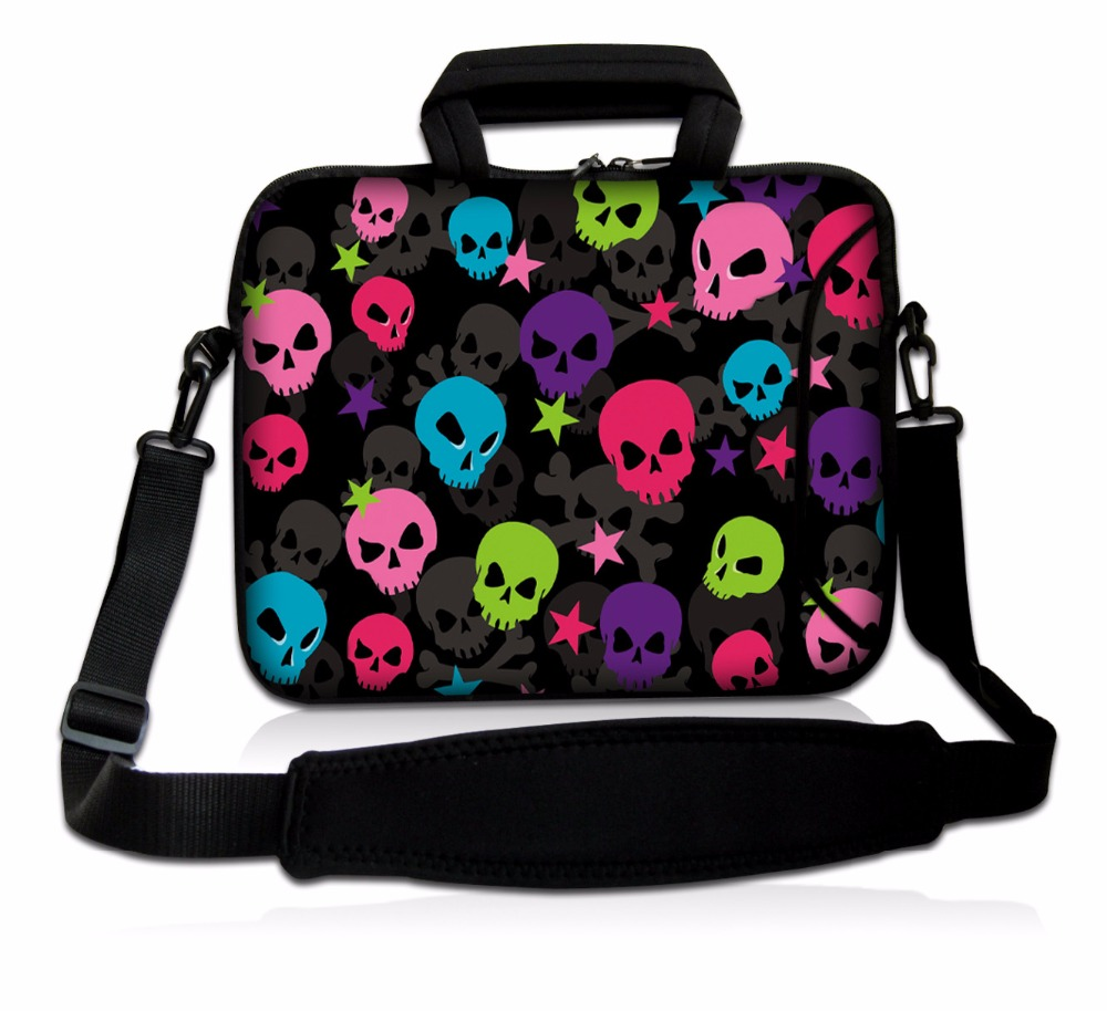 15 15.4 15.6 inch Laptop shoulder bag Messenger Bag <font><b>Case</b></font> <font><b>Notebook</b></font> Handle Sleeve Neoprene Soft Carring Tablet <font><b>Travel</b></font> <font><b>Case</b></font> Cover image