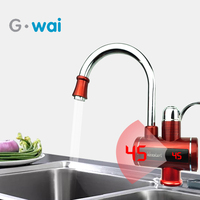 220V Electric Water Heater Tap Tankless Kitchen Electric Faucet Instant  Hot Water Heater With Led Digital Temperature Show