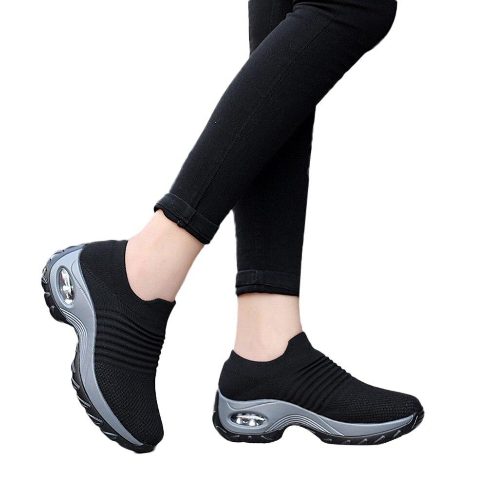 Basket Femme Sneakers Women Lightweight Thick Bottom Platform Shoes Air Cushion Basket Femme Shoes Zapatos De Mujer#ES