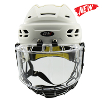 2018 New arrival Entry level inline hockey helmets Professional no chucking helmets Kids casque with face protector Helmets