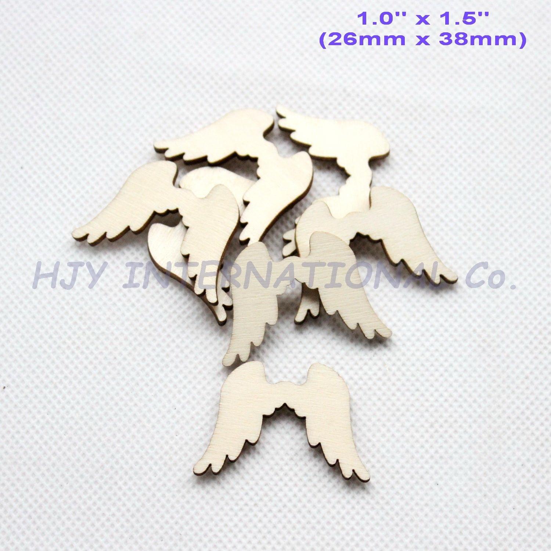 (30 шт./лот) 38 мм натуральные пустые деревянные Угловые Крылья украшения Rusitc для рукоделия Supplies-CT1433B