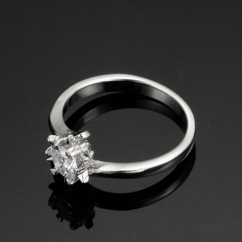 Серебряный Цвет свадебной моды и Обручение кольцо Сделано с кубического циркония ювелирные изделия для Для женщин оптовая продажа zyr514
