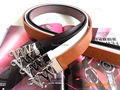 2015 New designs Hot sale Famous brand PU belt For VW words Men women's luxury waist strap #1209