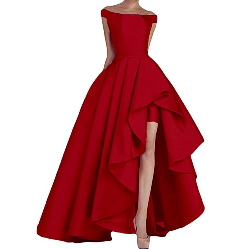 Prom Dresses 2019 New High Low Evening Gowns Asymmetrical Formal Party Women Dress Elegant Long Vestido