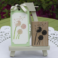High Quality Romantic Dandelion Of Flying Dream Wooden Scrapbooking Rubber Stamps Carimbos For Card Diy Stempel