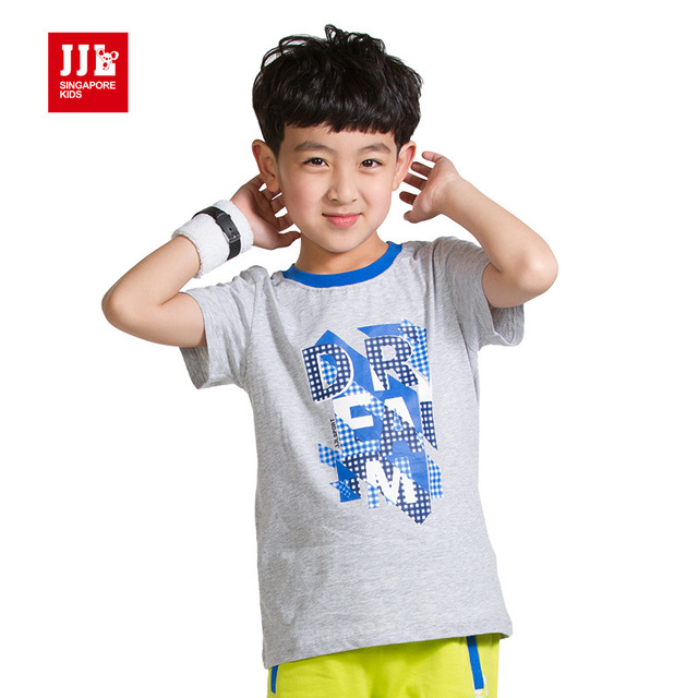 d2e5e5b4f kids boys classic t shirts fashion letter design 100% cotton children  schoolboys well quality kids t shirts size 6-15 years