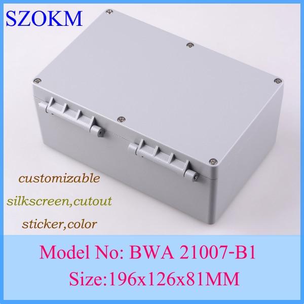 ФОТО IP68 aluminum waterproof enclosure aluminium extrusion box enclosure aluminum profile196X126X81MM