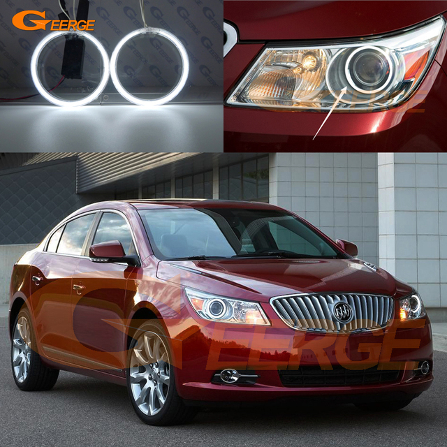 For Buick Lacrosse 2010 2017 Xenon Headlight Excellent Angel Eyes Ultra Bright Illumination Ccfl Kit Halo Rings