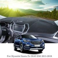 Silicone Anti-Sunshine Mat Car Dashboard Cover Protect Pad Cover For Hyundai Santa Fe IX45 DM 2013-2018 LHD&RHD Car Accessories