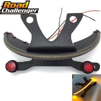 For Victory Vegas 03-17 LED Fender Amber Smoked Lens Tail Light Bracket