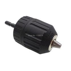 broca sin llave de 0,8-10 mm con adaptador de portabrocas hexagonal para llave de impacto de aire Herramienta de conversi/ón del convertidor de taladro