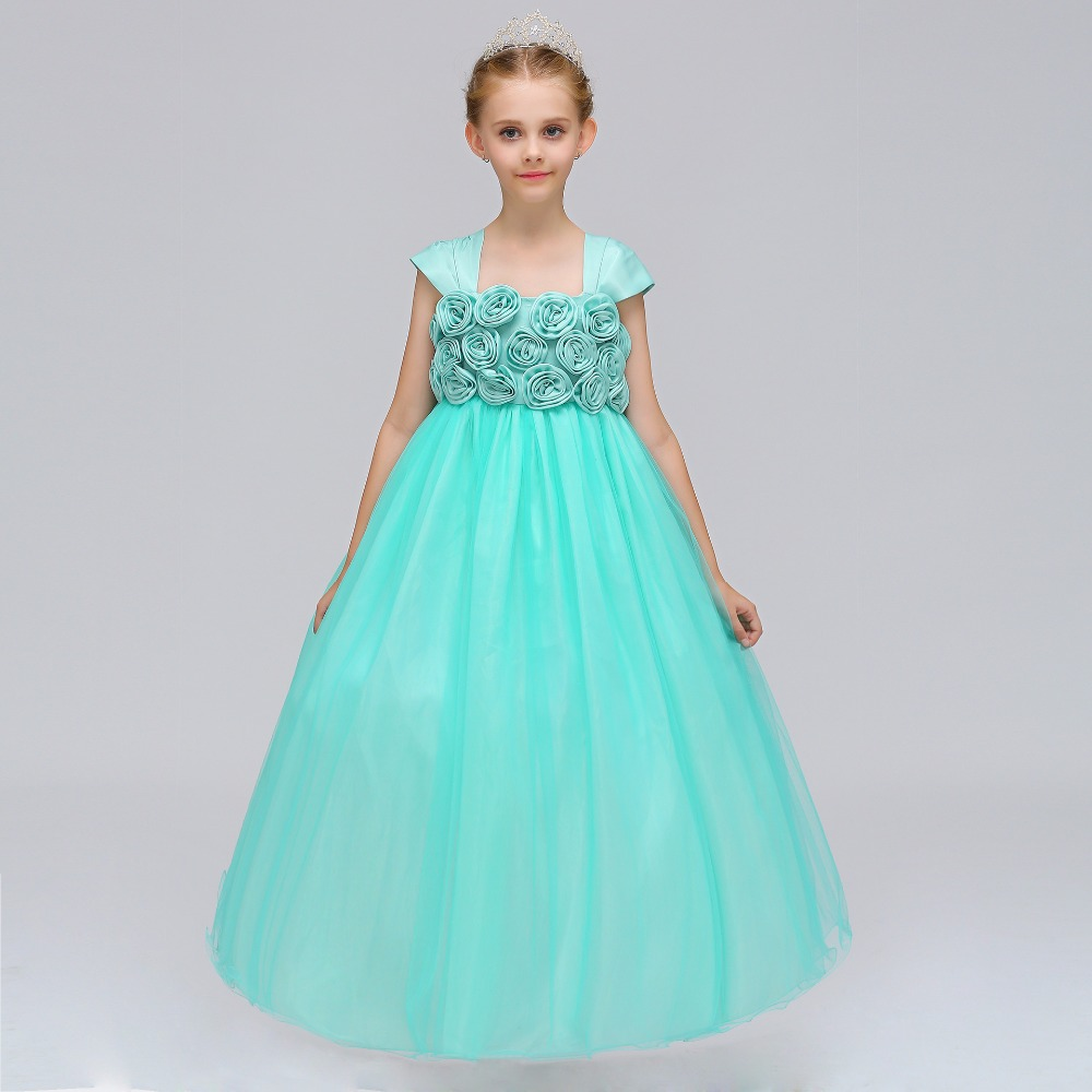 Flower Girl Dresses Ball Gown Beaded Scoop Little Girls Pageant ...