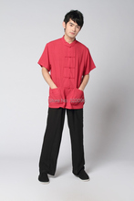 Free shipping Kungfu Clothing men taiji clothing set Tai chi suit set men chinese kungfu suit short Sleeve shirt + pants