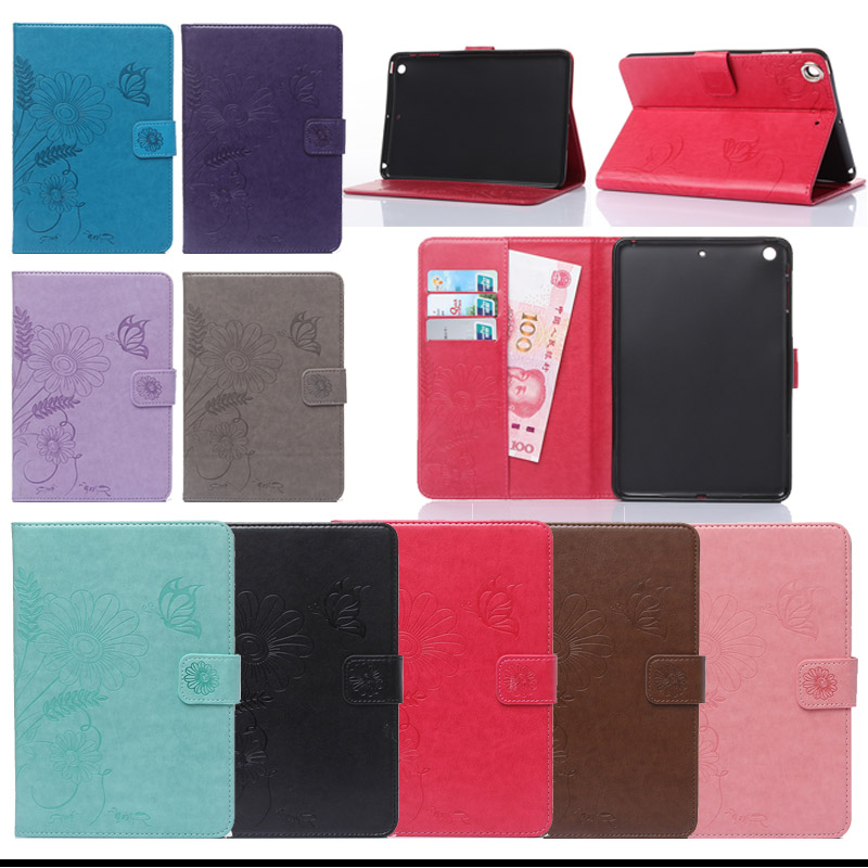 For iPad Mini 1 Mini 2 Mini 3 Tablet Cases PU Leather Stand Flip Cover Case For Apple Pad mini 1 2 3 7.9inch With Card Holder haggard h nada the lily
