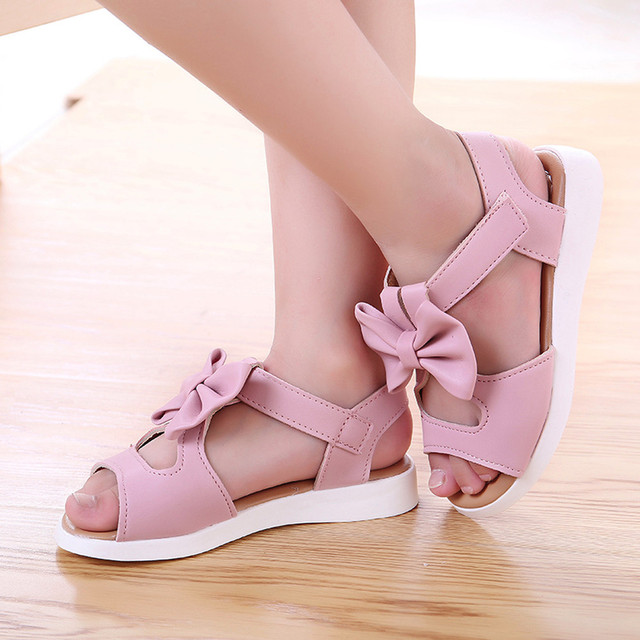 Kids Girl Shoes Sandals Summer Children Sandals Fashion Bowknot Girls Flat Pricness Shoes Zapatos Verano Sandals For Girls 2