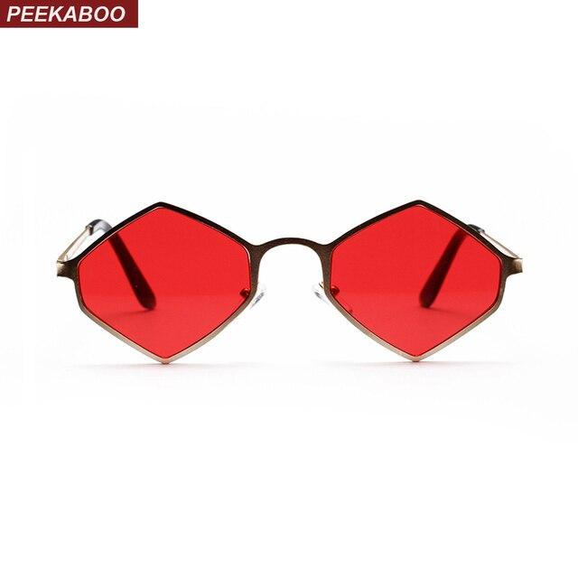 Peekaboo losango óculos de sol das mulheres do vintage 2018 verão roxo  amarelo rosa vermelho festa 9ef80fdbf0