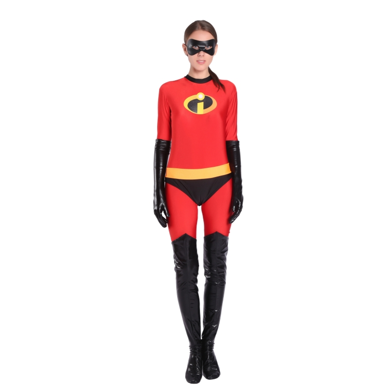 Tree&Sea The Incredibles 2 Elastigirl Helen Parr Costume Women Super hero Cosplay Costume Full Suit with eyemask