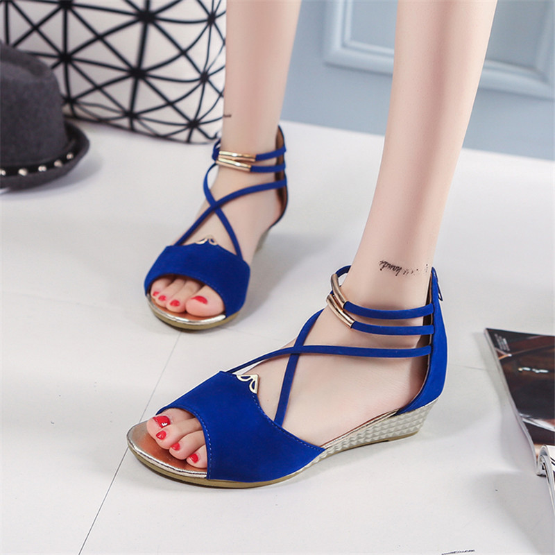 Women's Shoes 2018 Brand Sandals Women Summer Shoes wedges Slip On Shoes Woman Party Wedding Shoes zip phyanic 2017 gladiator sandals gold silver shoes woman summer platform wedges glitters creepers casual women shoes phy3323