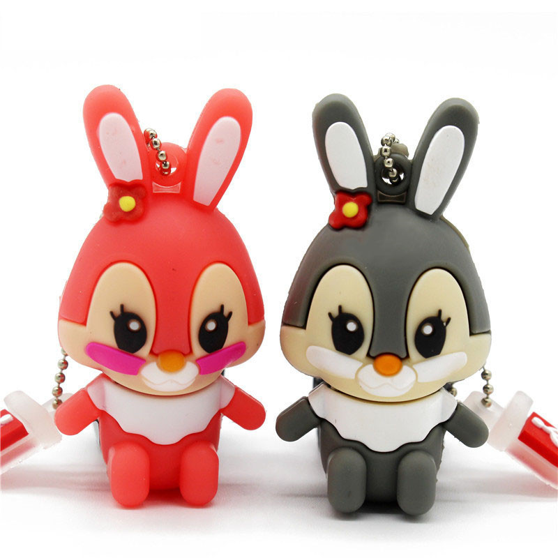 Usb Flash Drive Pen Drive Pink Memory Stick Gray Rabbit 8GB 16GB Pendrive