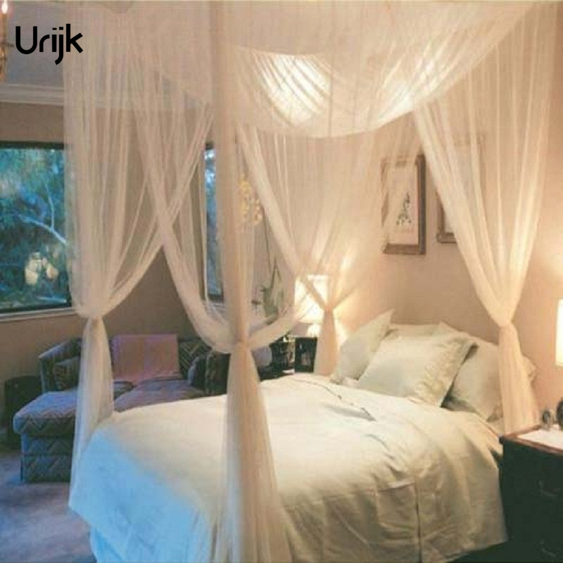 Urijk 1Set Palace Mosquito Net Foor Door for Double Bed Folded Princess Mosquito Net Ten ...