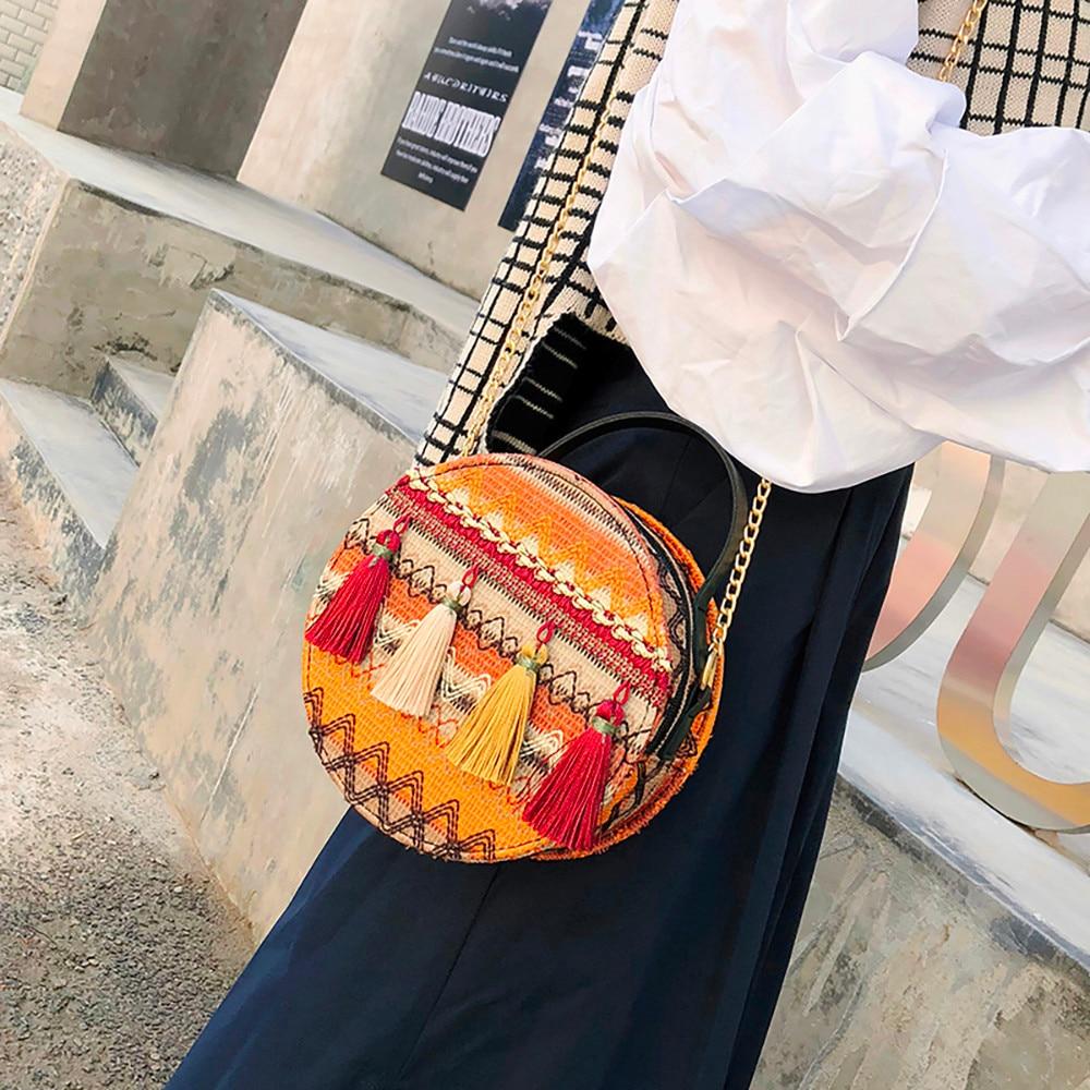 Round Bag Chain Packet Versatile-Bags Shoulder-Bag Small Female Fashion Women National