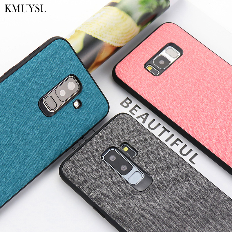 Luxury <font><b>Cloth</b></font> <font><b>Case</b></font> For <font><b>Samsung</b></font> S10 S9 S8 Plus Galaxy A9 <font><b>A8</b></font> A7 A6 J4 J6 Plus J8 <font><b>2018</b></font> J3 J5 J7 2017 S7 Edge Note 9 8 A9S A6S Cover image