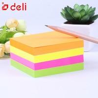 Deli 4 Pcs Lot Random Color Sticky Note Portable Adhesive Paper Post It Memo Pad Stationery