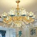 Moderne LED kronleuchter wohnzimmer ausgesetzt lampen Europäischen leuchten schlafzimmer beleuchtung hause leuchten kristall hängen lichter