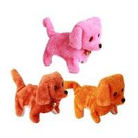 Электрическая мягкая игрушка собака вперед к задней кукле