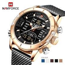 Naviforce 2019 Sport LED Digital Military Mens Watches Top Brand Luxury Steel Strap Wrist Watch Relogio Masculino montre homme