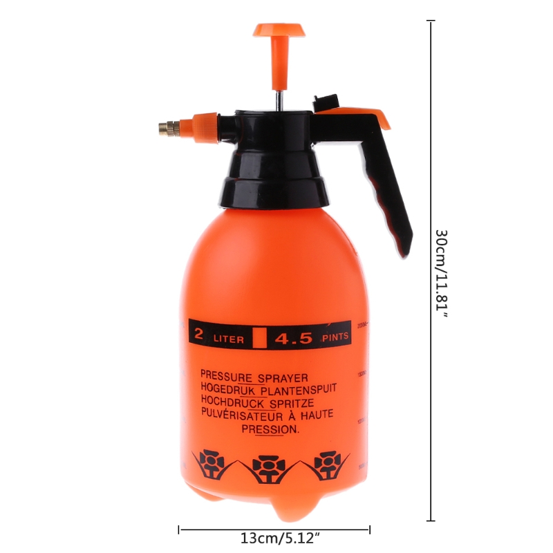2.0L Car Washing Pressure Spray Pot Auto Clean Pump Sprayer Bottle Pressurized Spray Bottle High Corrosion Resistance(China)