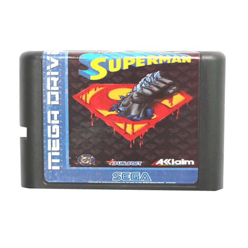 The Death And Return Of Superman 16 bit MD Game Card For Sega Mega Drive For Genesis