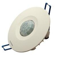 10M 220V Ceiling Human Body Infrared IR Motion Sensor Light Lamp Switch Recessed Sensor Detector Light