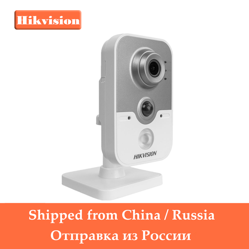 все цены на In Stock Hikvision Wireless IP Camera 1080P DS-2CD2442FWD-IW 4MP Indoor IR Cube WiFi Home Security Camera Remote View Support онлайн