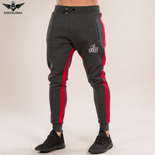 2018 New Muscle Mens Fitness Long Pants Bodybuilding Casual Slim Fit Pencil Trousers Tracksuit Jogger Pants