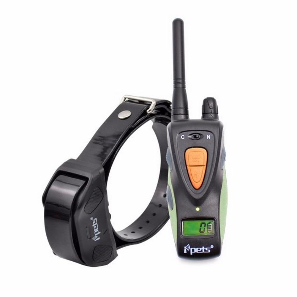 Ipets 617-1 Pet Dog Training Collar Waterproof Blue Backlight LCD Display 800M Remote Training Collar
